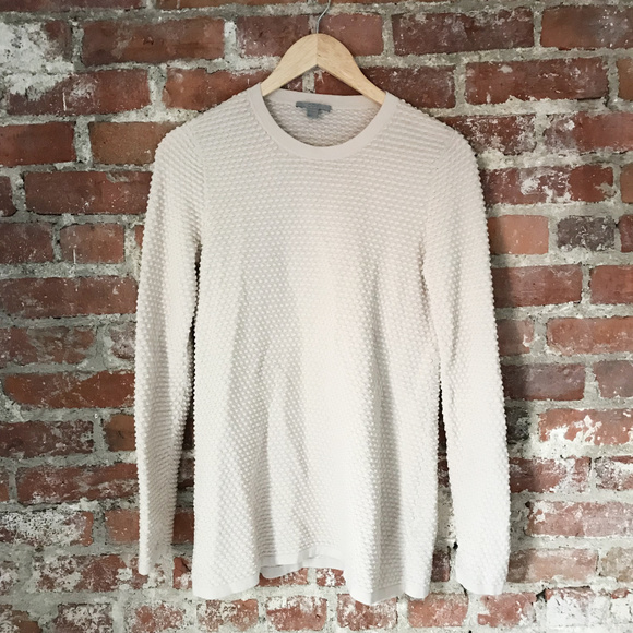 5050bb10cef1 COS Sweaters | Textured Dot Cream Crewneck Sweater | Poshmark